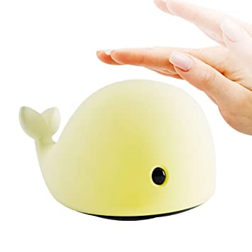 Mystery Whale Night Light, Soft Silicone LED Relaxing Sleeping Soothing Toy  Dolphin Nightlight for
