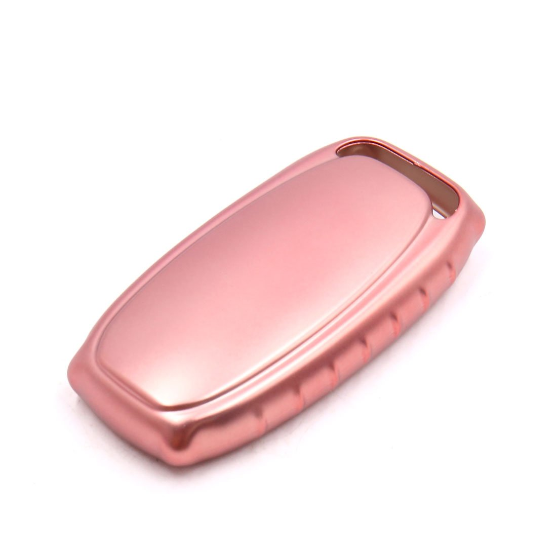 uxcell Pink Remote Key Case Holder Shell Protect Cover Fit For Audi A4L A6L A7 A8 S5