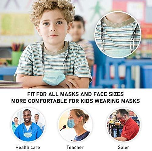 Mask Extender Strap Adjustable Ear Saver for Masks, Anti-Slip Mask Buckle Rope (6pcs)