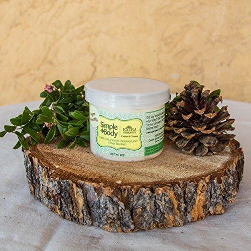 Cedar Extra Strength Deodorant by Simple Body