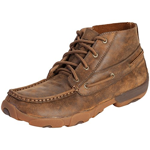 Twisted X Casual Shoes Mens Driving Moc Chukka Bomber MDM000