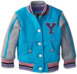 YMI Baby Girls' Hooded Fleece Varsity Jacket