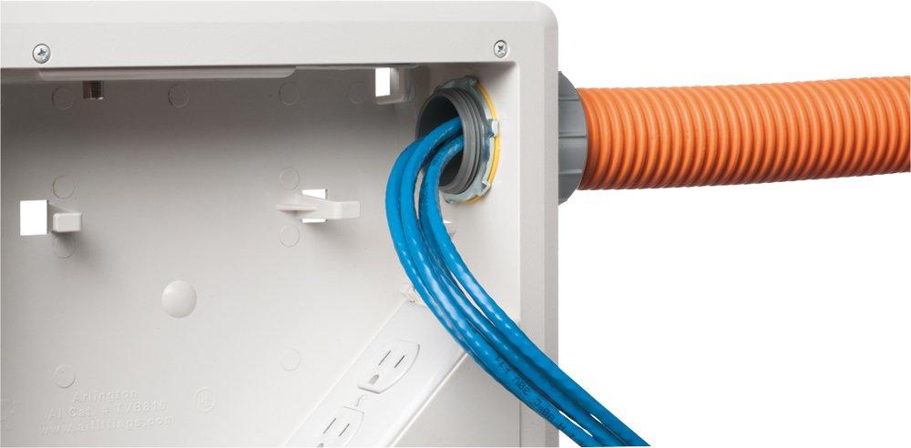 amazon com arlington tvbu810 1 tv box with flange for home theater rh amazon com tv wiring box cable tv wiring box