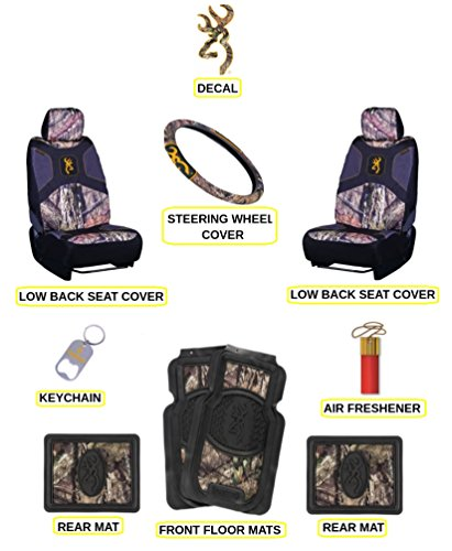 Browning Buckmark with Breakup Country Camo Auto & Truck Accessory Set 10 Pc