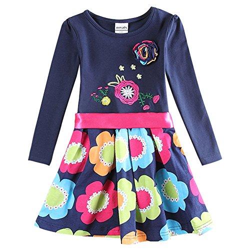 Novatx Baby Girls Cotton Long Sleeves Winter Dress (4/5y)