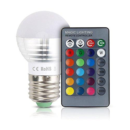 Zehui LED Spotlight Bulb Unique Colorful Changeable RGB E27 Christmas Decor Light Lamp with IR Remote Controller