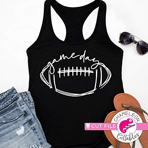 Game day, Football, drawing, stitches, SVG cut file for shirt, for Cutting Machine, Silhouette Cameo, Cricut, Commercial Use Digital Design