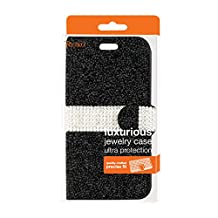 Reiko Bling Diamond Wallet Case for iPhone6/6s - Retail Packaging - Black