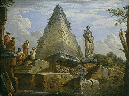 Oil Painting 'Panini Giovanni Paolo Ruinas Con La Piramide De Cayo Cestio Ca. 1730' 20 x 27 inch / 51 x 68 cm , on High Definition HD canvas prints, - Eyeglasses Nyc Affordable