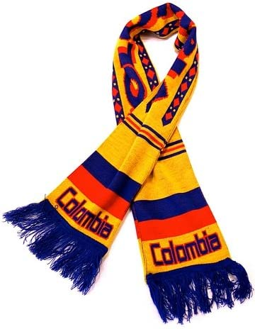 Colombia Soccer Knit Scarf
