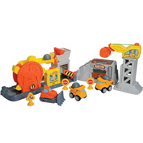 - Constructive Playthings Rock Quarry 10 pc. Playset with 3 Chunky Vehicles,