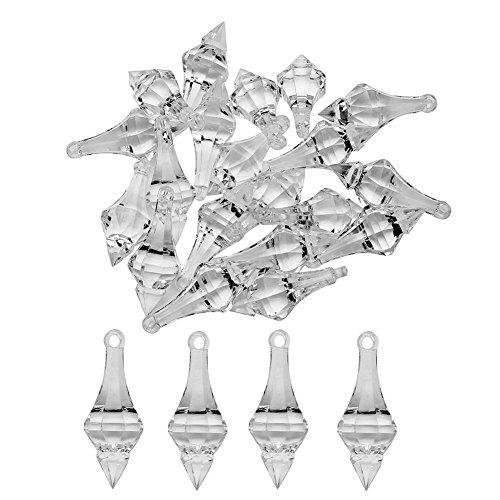 - Clear Diamond Strands Awakingdemi 20pcs Acrylic Crystal Beads Hanging Pendant Chandelier Wedding Party Decor