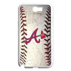 Godstore Hard Plastic MLB Atlanta Braves Primary Logo Samsung Galaxy Note 2 N7100 Case