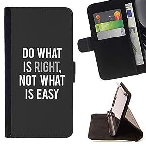 Momo Phone Case / Flip Funda de Cuero Case Cover - Is Right Inspiring Quote texte - Samsung Galaxy Note 4 IV