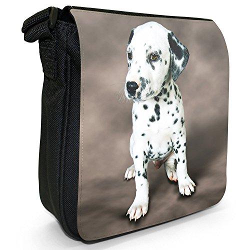 Small Bag Dog Black Size Canvas Dalmatian Puppy Shoulder Hz1wx