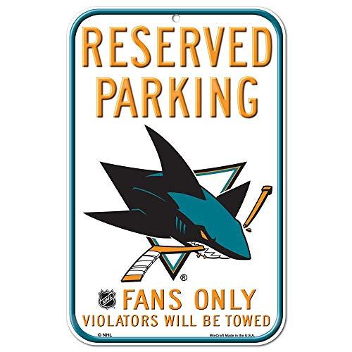 (WinCraft NHL San Jose Sharks 28957011 Plastic Sign, 11 x 17, Black)