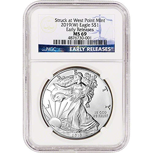 2019 (W) American Silver Eagle Early Releases $1 MS69 NGC