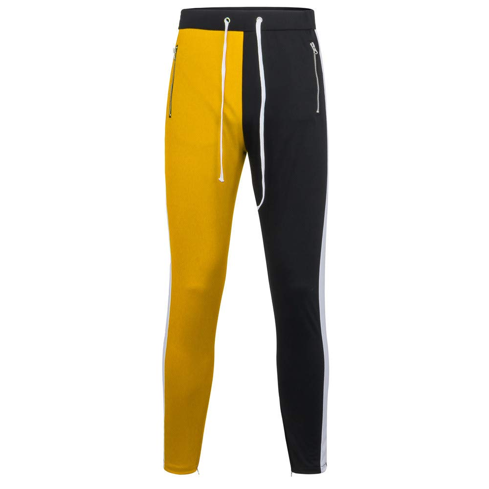 Men's Drawstring Pants,Clearance-Fashion Casual Patchwork Zippers Joggings Baggy Hip- hop Trousers Sweatpants