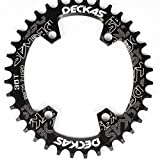 LOLTRA DECKAS Round Oval Aluminium CNC 96BCD MTB Bike Crankset Wide Narrow Chainring for SLX M7000 /XT M8000/ M9000 Bike Crankset (Black, 38T Oval)