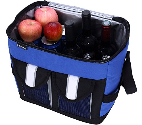 MIER 30Cans Collapsible Soft Cooler Bag Insulated Picnic Lunch Bag for Adult, Men, Women, Leakproof Liner, Blue, Large by MIER (Image #5)