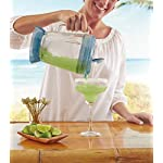 Margaritaville Key West Frozen Concoction Maker with Easy Pour Jar and XL Ice Reservoir 12 Makes up to 2.5 pitchers of frozen concoctions thanks to its extra-large ice reservoir Creates premium shaved ice rather than crushed ice like a blender, for an authentic frozen concoction experience. Key West Frozen Concoction Maker with 36-ounce blending jar for creating fun, tropics-inspired party drinks Includes 4 pre-programmed drink settings, plus automatic shave 'n blend cycle and manual blend only/shave only cycles