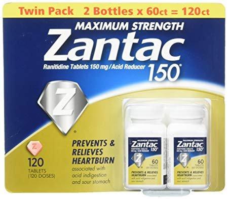Zantac 150 Maximum Strength Tablets, Original 120 Count ()