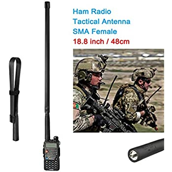 HYS 771N Dual Band Antenna for YAESU VX-1R VX-2R VX-3R VX-5R Icom IC-F50V IC-F50 Baofeng BF- UV3R Two Way Radio SMA-Male Walkie Talkies Antenna Pack of 2