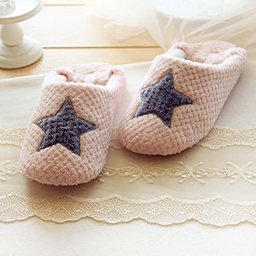 Chicpro Chaud Hiver Dames Doux Maison Pantoufles Floue Intérieur Chambre Chaussons Chaussures Pour Femmes Rose