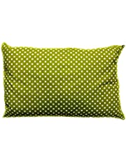 Soft Polycotton Pillow By Valentini, Green, Queen Size, 50 * 75 Cm, Material: Mixed