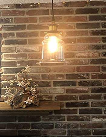 KIVEN 3 Pack H-Track Lighting Kitchen Pendant Light - Clear Glass Shade Industrial Hanging Lamp, UL Listed-Cord Lengths 12 inch.
