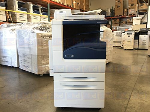 (Refurbished Xerox WorkCentre 7220 Tabloid-size Color Multifunction Printer - Copy, Print, Scan, DADH, Dual Catch Trays, 2 Trays, Stand)