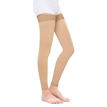 548151c5d28 Medical Thigh High Compression Stockings for Women Men- Footless Firm Support  20-30 mmHg