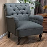 Great Deal Furniture Wardell | Button-Tufted Fabric Club Chair | in Grey