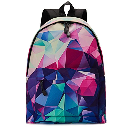 Uideazone Lightweight School Backpack Water-Resistant Casual Daypack for Teenagers Bookbags
