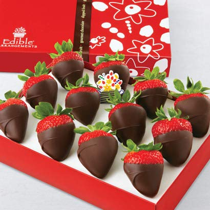 Edible Arrangements Fresh Chocolate Covered Strawberries Gift ()