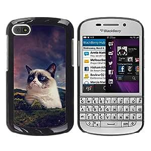 Be Good Phone Accessory // Dura Cáscara cubierta Protectora Caso Carcasa Funda de Protección para BlackBerry Q10 // Funny Grump Cat Snowshoe Siamese