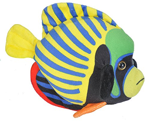 Wild Republic Emperor Angelfish Plush, Stuffed Animal, Plush Toy, Gifts for Kids, Sea Critters 8 Inches