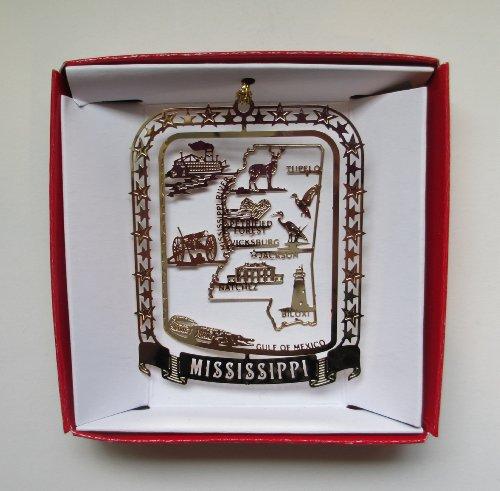 Mississippi Ornament State Brass Souvenir Gift