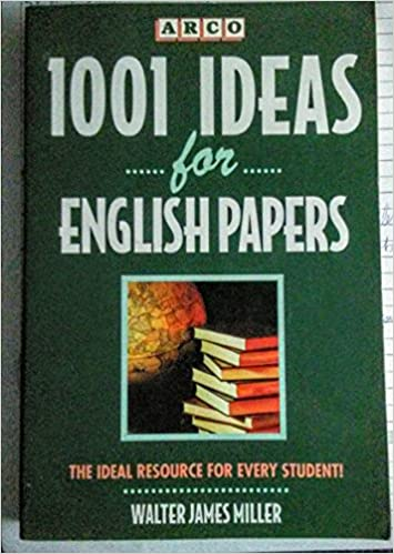 amazoncom  ideas for english papers term papers projects  amazoncom  ideas for english papers term papers projects reports  and speeches  walter james miller books