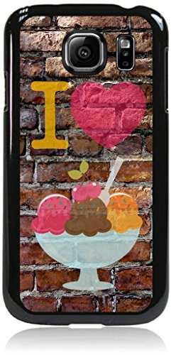 I Love Ice Cream-Wall-Art-Street-Art- Case for the Samsung® Galaxy s6 Only (Not the s6 EDGE)- Hard Black Plastic Snap On Case
