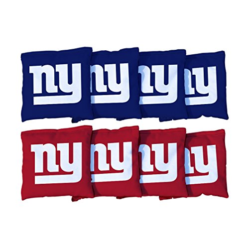 Victory Tailgate New York Giants NFL Cornhole Game Bag Set (8 Bags Included, Corn-Filled)