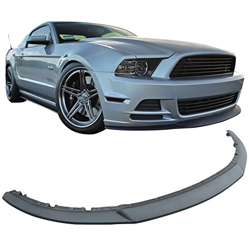 Front Bumper lip Fits 2013-2014 Ford Mustang V6 GT | R Style 3 PCS Splitter Spoiler Valance Chin Injection PP by IKON MOTORSPORTS - Valance Mustang Ford