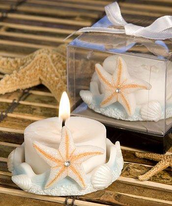 (Starfish Design Favor Saver Candle Favors [SET OF 12])