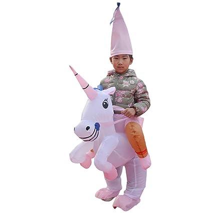 Amazon.com: Disfraz de unicornio hinchable Toyvian para ...
