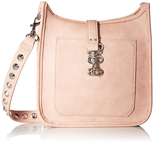 NON STUDS WYLIE WITH MADDEN STEVE SHOULDER CROSSBODY HANDBAG AND POCKET FUNCTIONAL OUTSIDE STRAP WOMEN LEATHER WITH Blush ZwBI6gEIqn