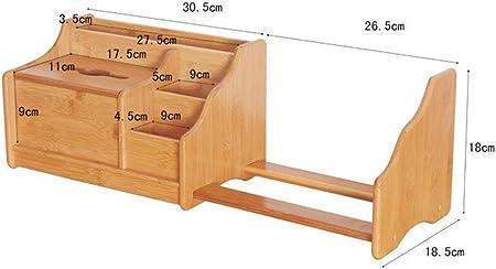 5 scomparti realizzato in bamb/ù Organizer da scrivania con cassetto ampio organizer per cancelleria