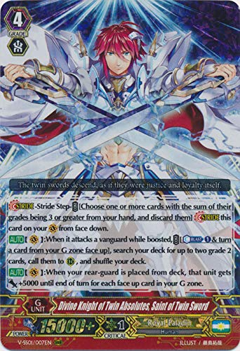 Cardfight!! Vanguard - Divine Knight of Twin Absolutes, Saint of Twin Sword - V-SS01/007EN - RRR - Premium Collection 2019