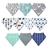 10-Pack Baby Bandana Drool Bibs for Drooling and Teething Boys Girls by MiiYoung