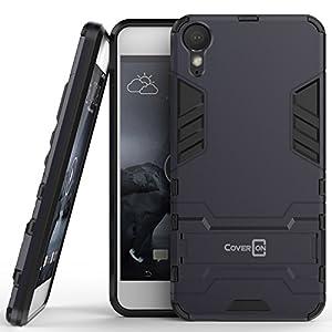 HTC Desire 10 Lifestyle Case, CoverON [Shadow Armor Series] Hard Slim Hybrid Kickstand Phone Cover Case for HTC Desire 10 Lifestyle - Navy