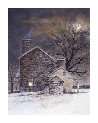 (24x30) Ray Hendershot Blue Moon Art Print Poster